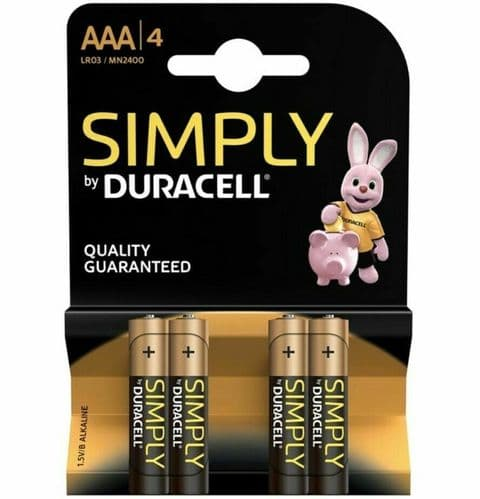 Simply AAA x4 Batteries LR03/MN2400